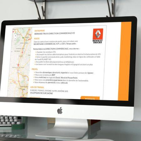 Webdesign détail offre gbrecrute