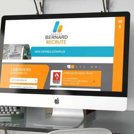 Webdesign page offre d'emploi gbrecrute