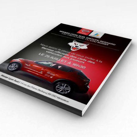 Flyer évènementiel partenariat Lou rugby / Nissan Groupe Bernard