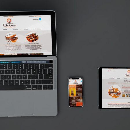 Webdesign Compagnie du Chocolat