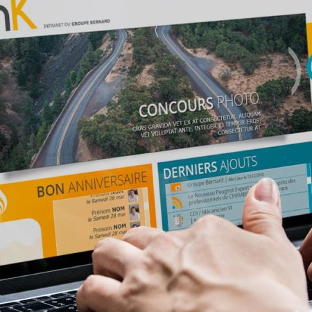 Link Intranet groupe Bernard
