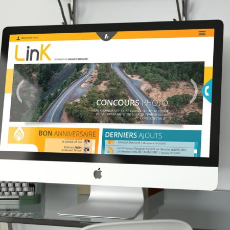 Webdesign de la home de l'intranet Link
