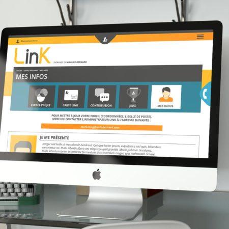 Webdesign de la page profil de l'intranet Link