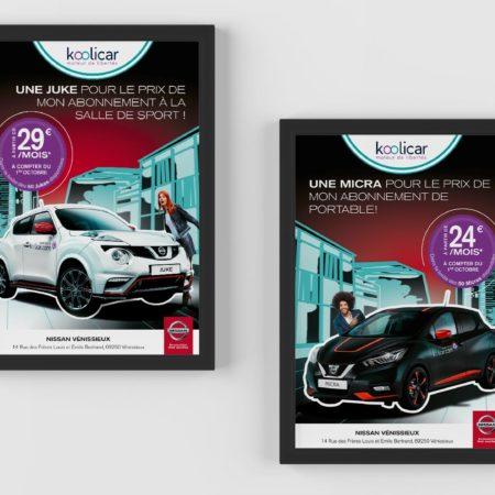 Affiche partenariat Nissan / Koolicar