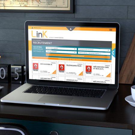 Webdesign de la page recrutement de l'intranet Link