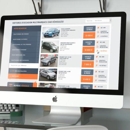 Webdesign page Recherche de stockdeal