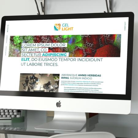 Webdesign de la homepage du site gellight