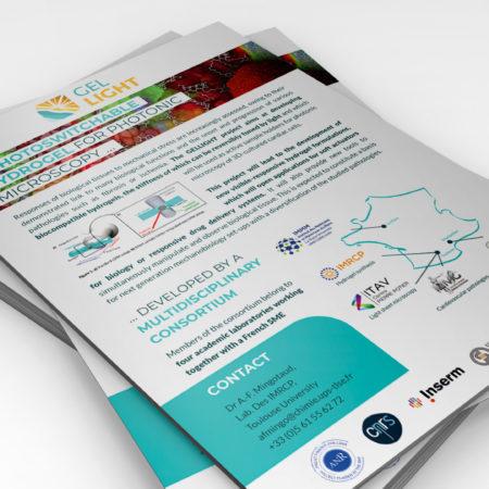 Plaquette format A5 présentant le projet Gellight