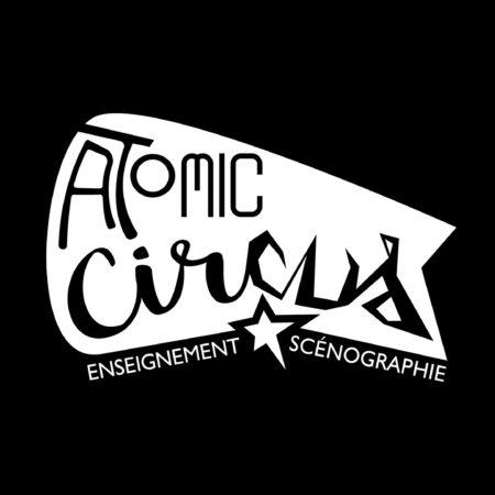 Logo en blanc Atomic circus