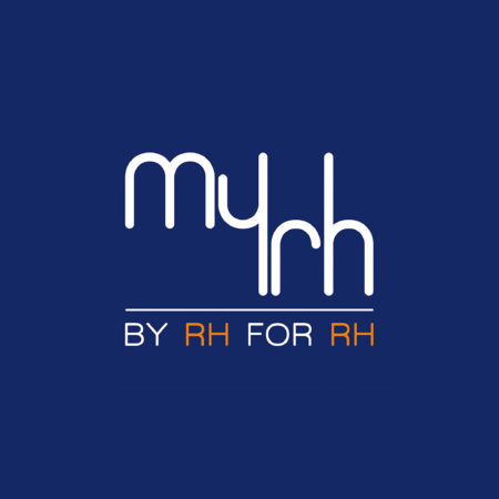 Logo en défonce de la marque MyRh