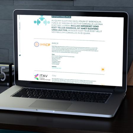Webdesign de la page partenaire du site gellight