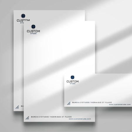 Entête et carton de correspondance - Custom étude Toulouse