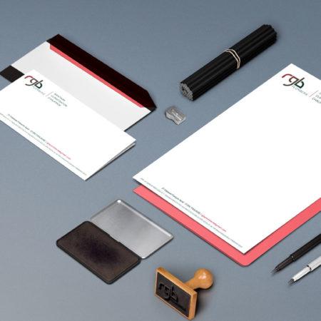 papier à entête - Carton de correspondance - RGB plomberie