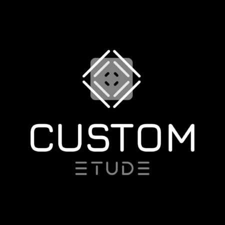 Logo Blanc Custom étude Toulouse