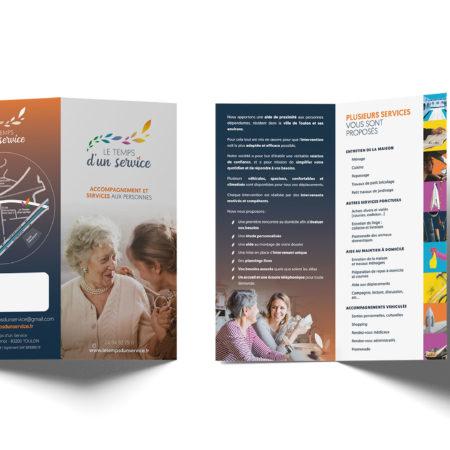 Plaquette Format A4 ouvert Quadri Le temps d'un service